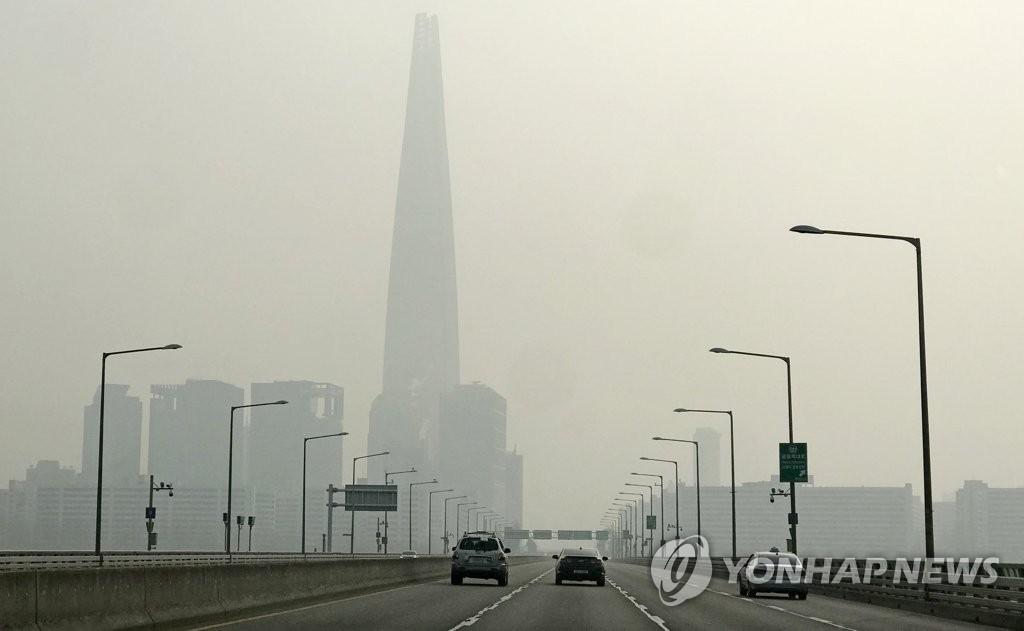 韩遭史上最严重雾霾天气