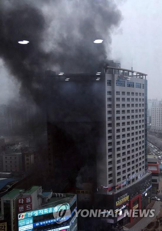 韩一酒店发生火灾致1人死亡19人受伤