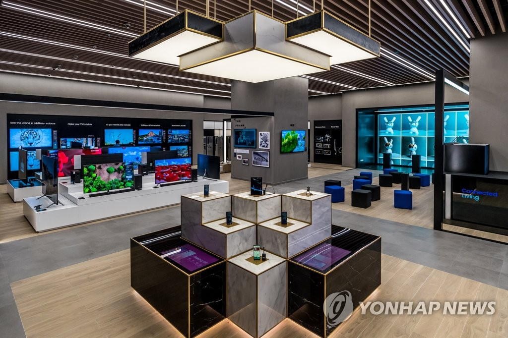 三星电子在迪拜购物中心开设的体验商店(韩联社/三星电子供图)
