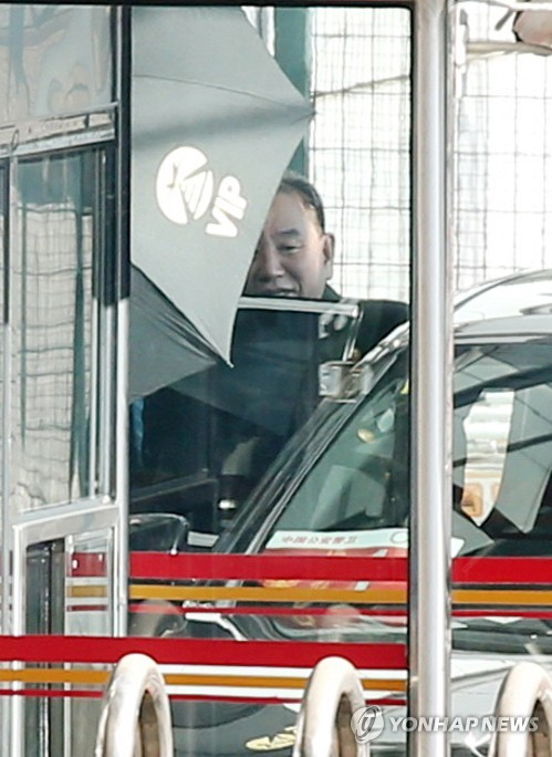 朝鲜高官金英哲抵京