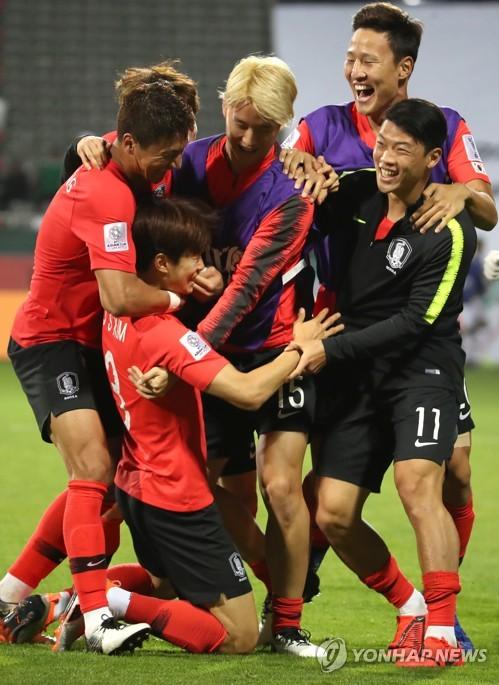 韩国队挺进8强