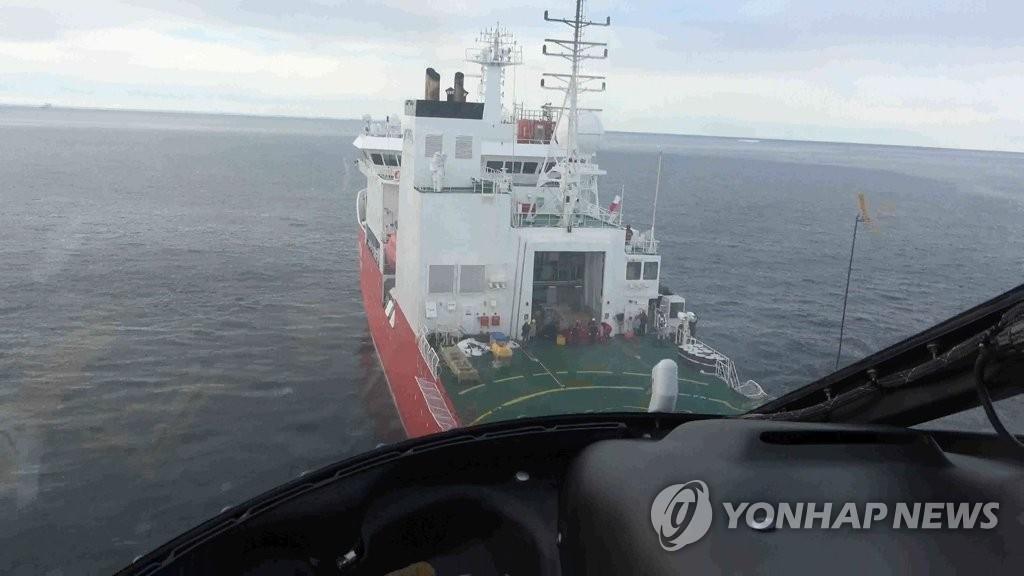 韩破冰船在南极成功救援中国科考队