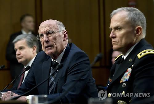 美国情报部门首长昨晚访韩