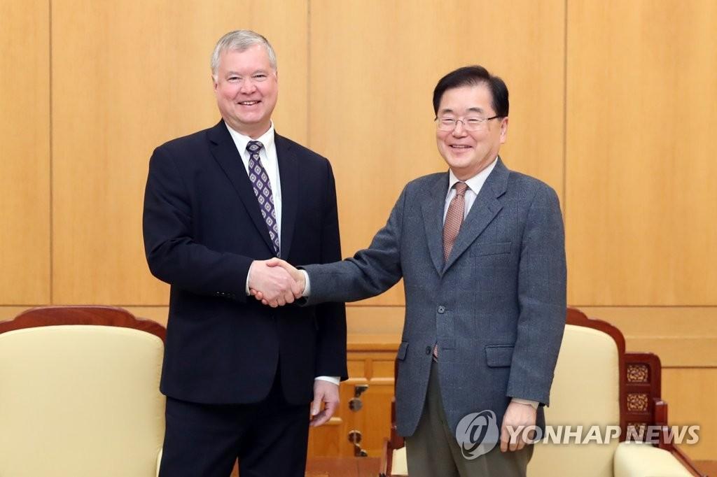 韩国国安首长会见美对朝代表