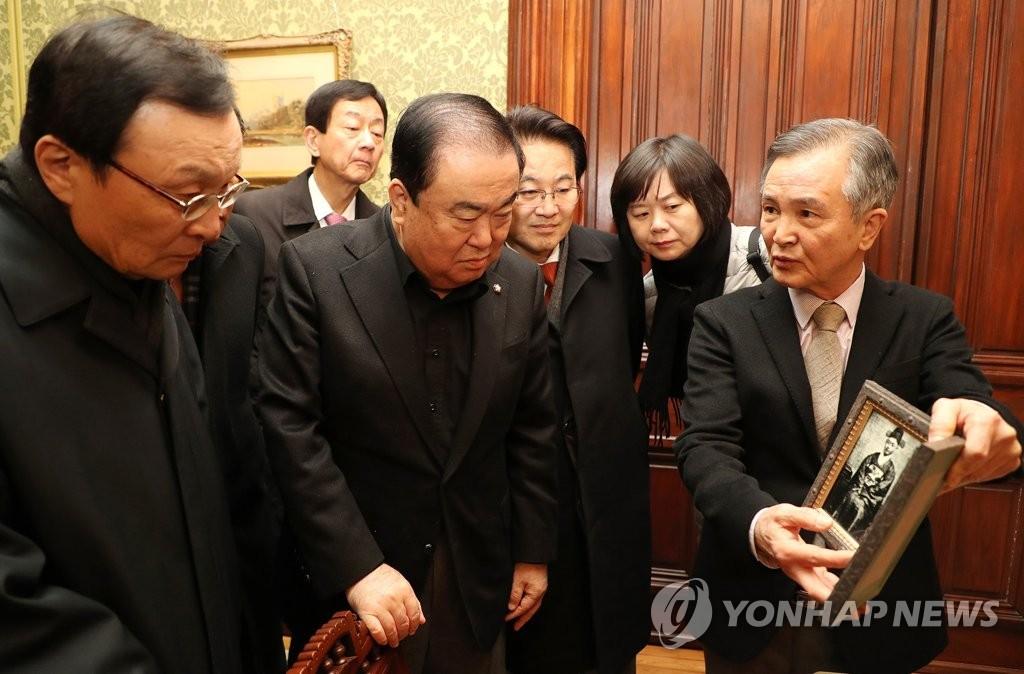韩国会议长参观大韩帝国驻美公使馆