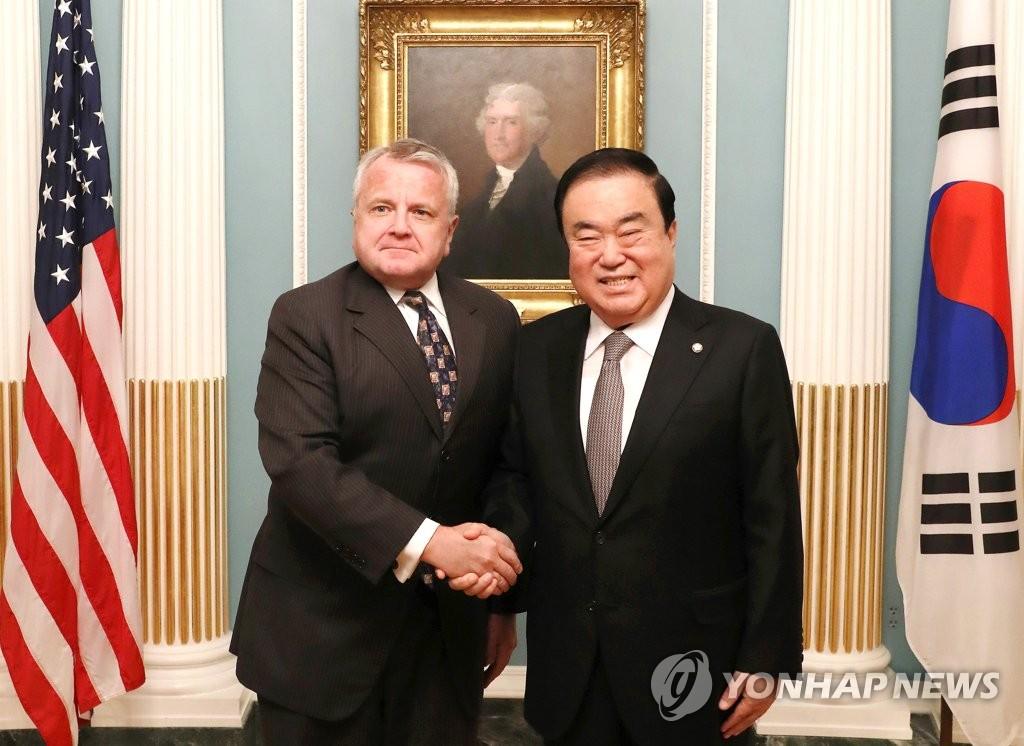 韩国会议长会见美副国务卿