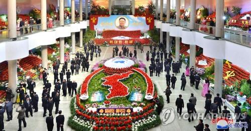 朝鲜第23届金正日花节开幕