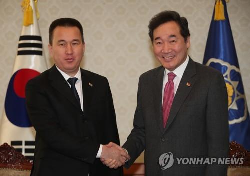 韩总理会晤土库曼斯坦副总理