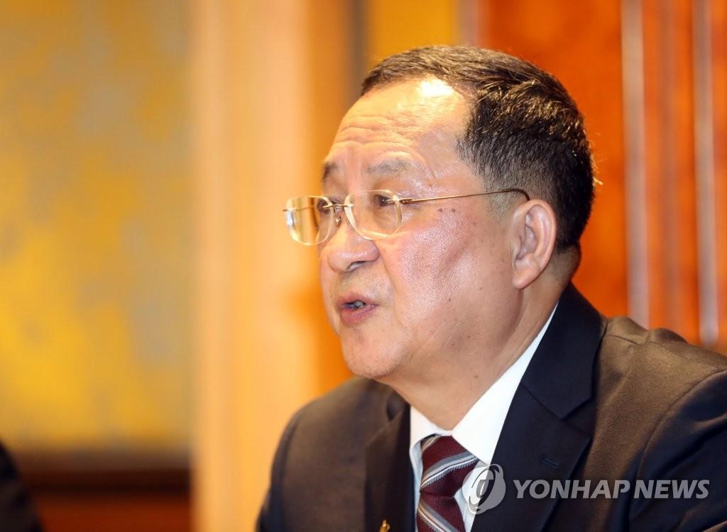 资料图片:朝鲜外务相李容浩 韩联社