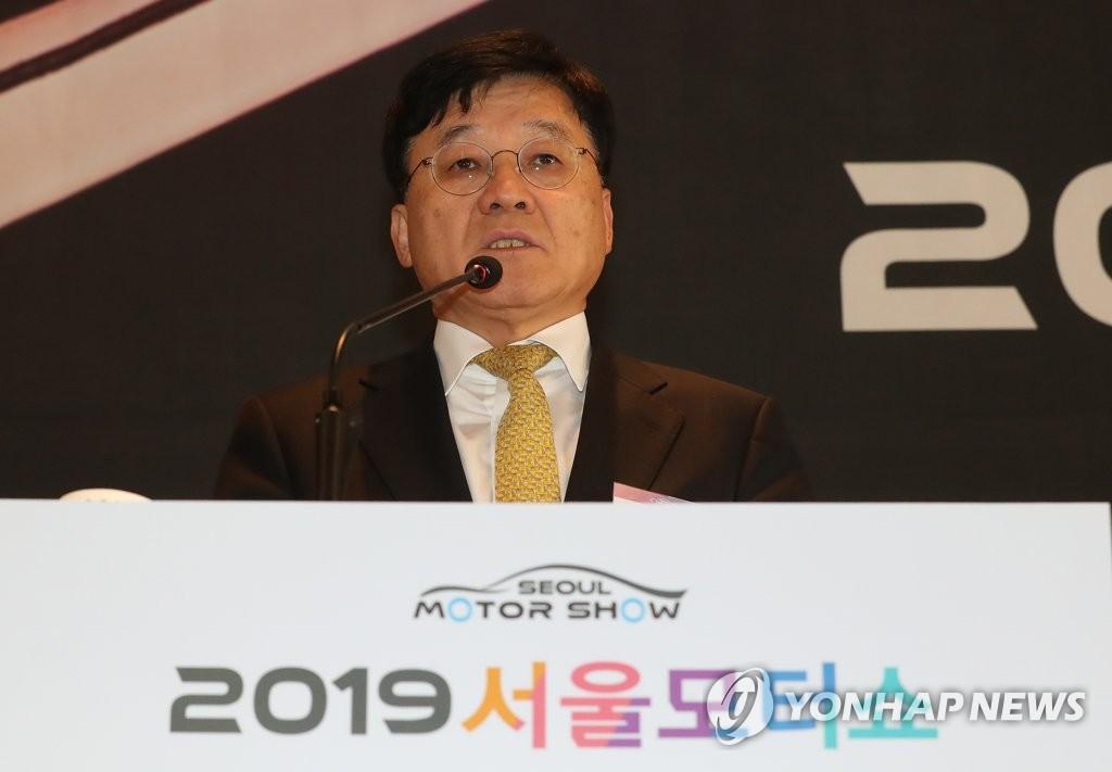 2019首尔国际车展组委会委员长郑晩基(韩联社)