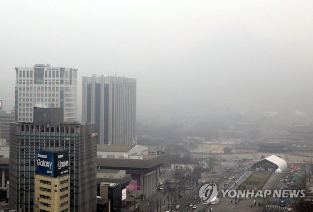 报告:韩国去年因雾霾经济受损规模占GDP0.2%