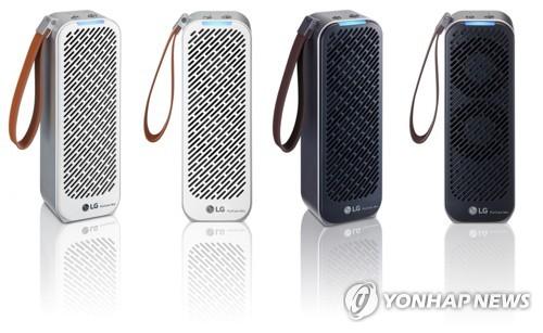 LG可随身携带空气净化器