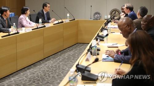 法语国家组织大使访问韩联社