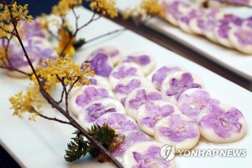 韩第一夫人做花煎饼