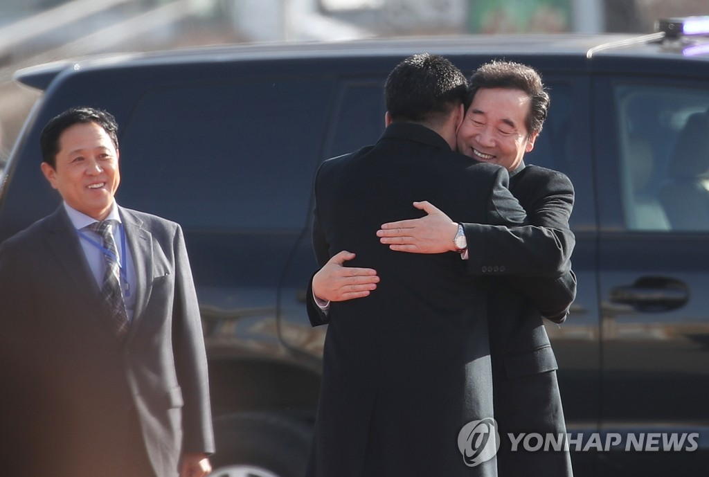 韩总理李洛渊会见蒙古国总理呼日勒苏赫