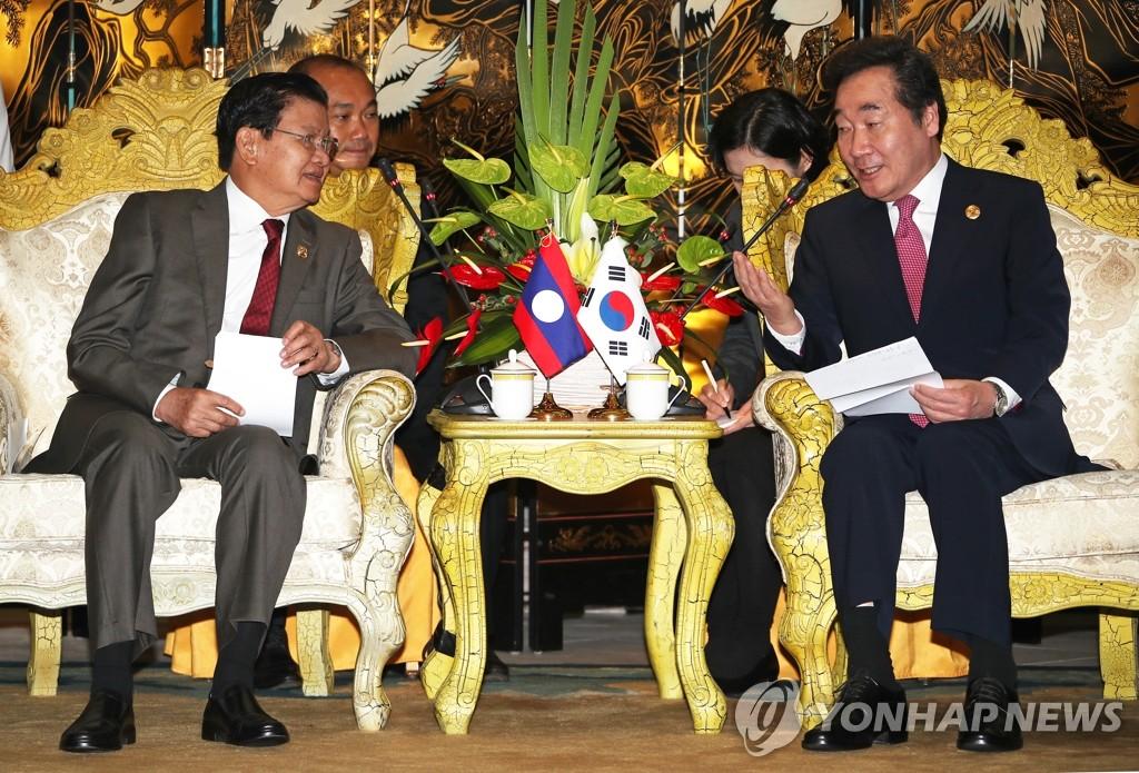 韩老总理在博鳌举行会谈