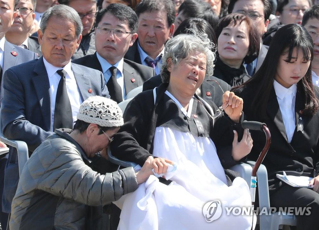 """""""济州4·3事件""""71周年追悼仪式现场(韩联社)"""