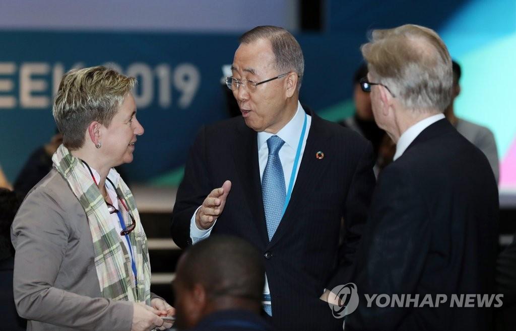 联合国前秘书长潘基文呼吁及时解决气候问题