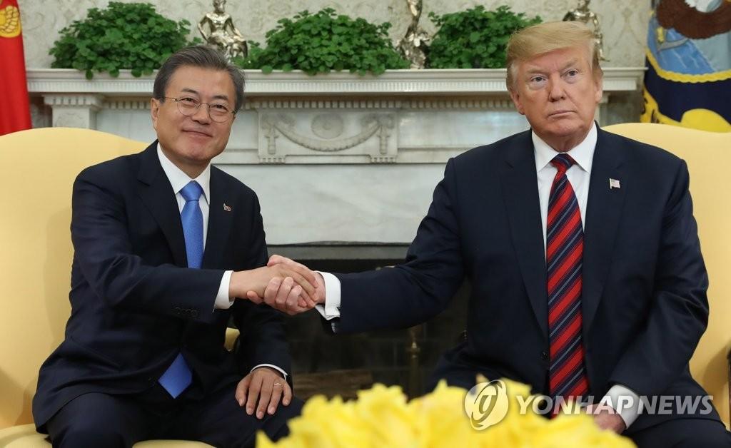 详讯:韩美领导人下月在韩会晤