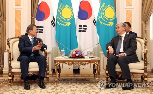 韩哈总统举行会谈