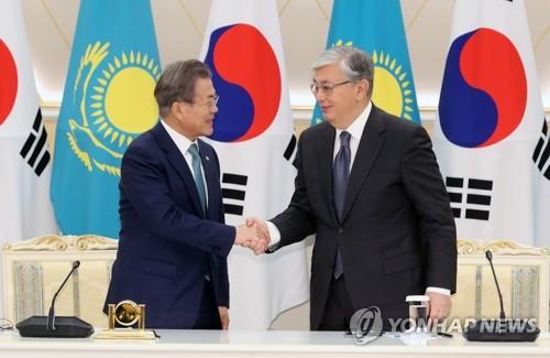 韩哈总统握手