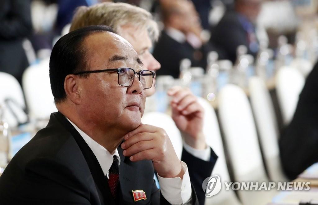 朝鲜对外经济相金英才(韩联社)