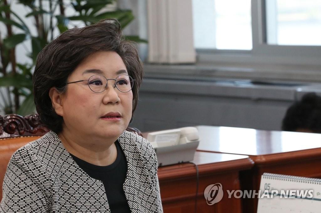 资料图片:韩国国会国防委员会李惠薰 韩联社