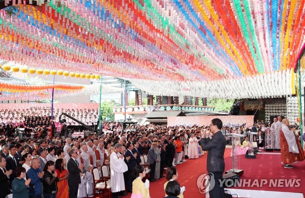 文在寅佛诞节贺词:望佛教界带头促进韩朝和平