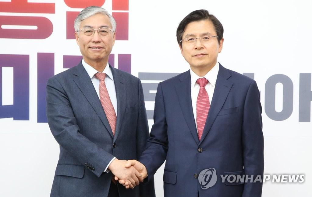 韩国最大在野党党首黄教安会见中国大使邱国洪