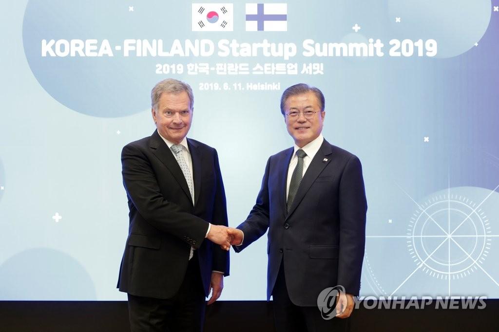 文在寅同芬兰总统通电话讨论防疫合作