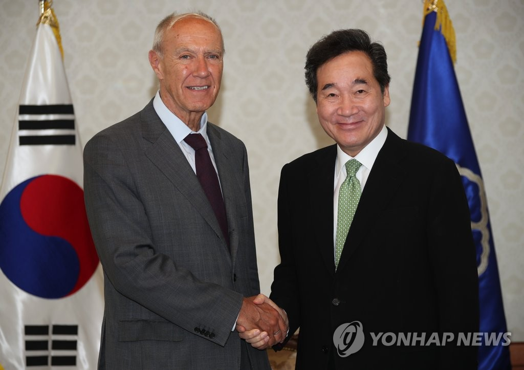 韩总理会见WIPO总干事