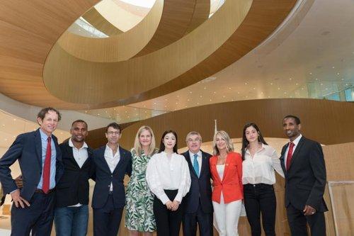 金妍儿出席IOC总部落成典礼