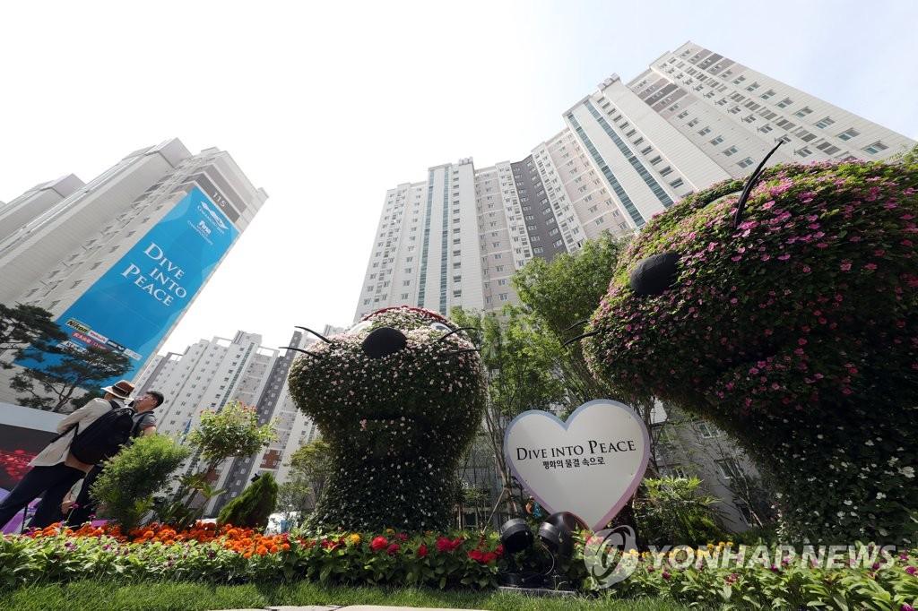 资料图片:光州世游赛运动员村内景,摄于7月2日。韩联社