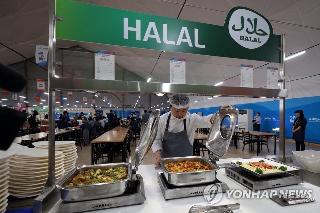 光州世游赛运动员村餐厅 韩联社
