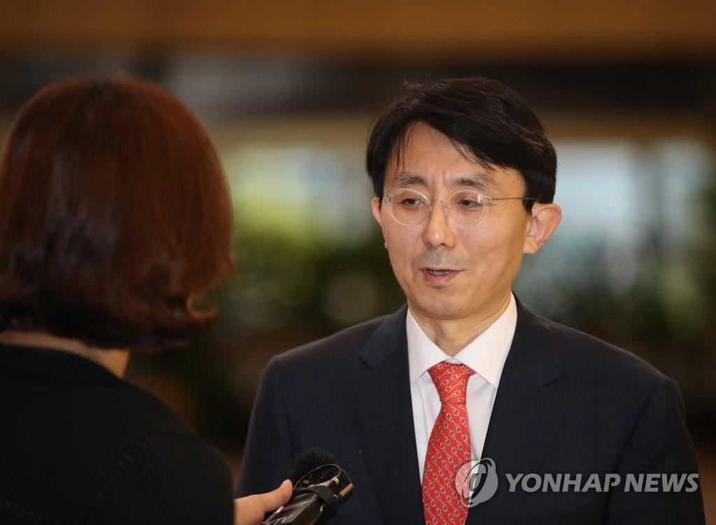 资料图片:外交部亚太局长金丁汉 韩联社