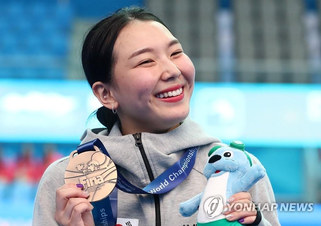 金守志摘得铜牌喜笑颜开。 韩联社