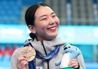 光州世游赛:韩国选手金守志摘女子1米板铜牌