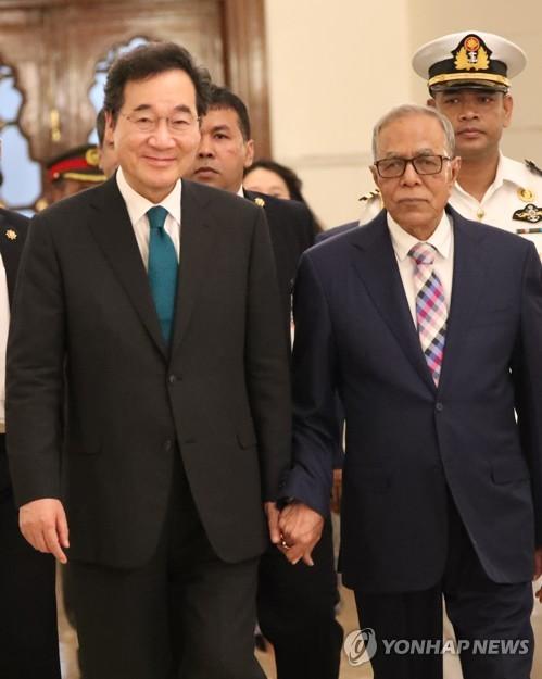 韩总理拜会孟加拉国总统