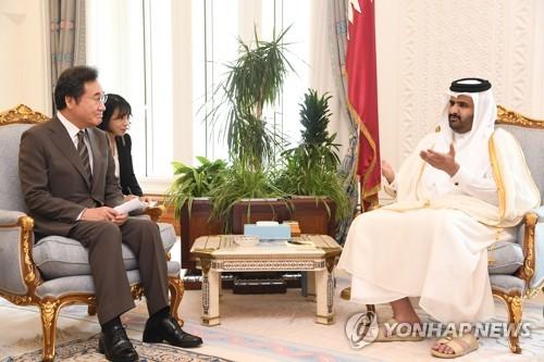 韩总理会见卡塔尔副埃米尔