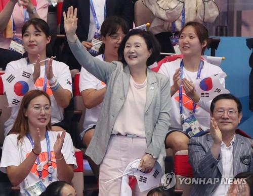 韩国第一夫人参观世游赛