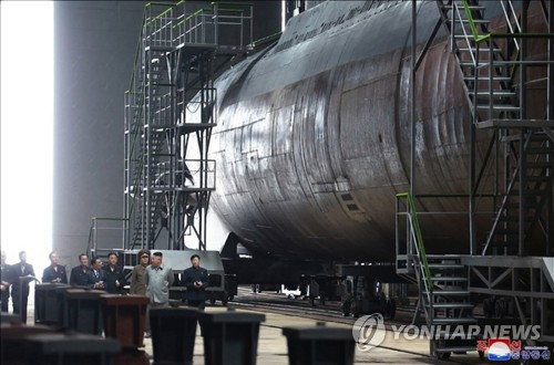 朝鲜新潜艇引关注 或同时发射多枚潜射导弹