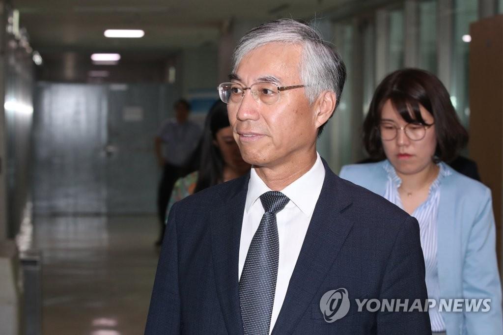 7月23日下午,中国驻韩大使邱国洪抵达韩国外交部。 韩联社