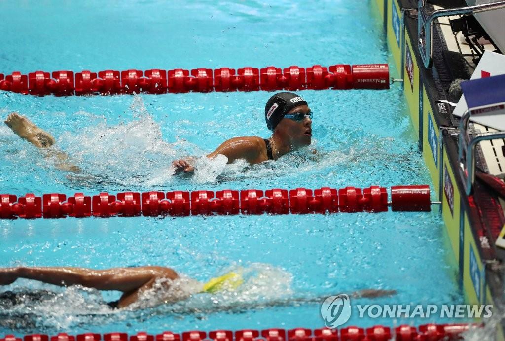光州世游赛:佩莱格里尼200米自由泳四度摘金