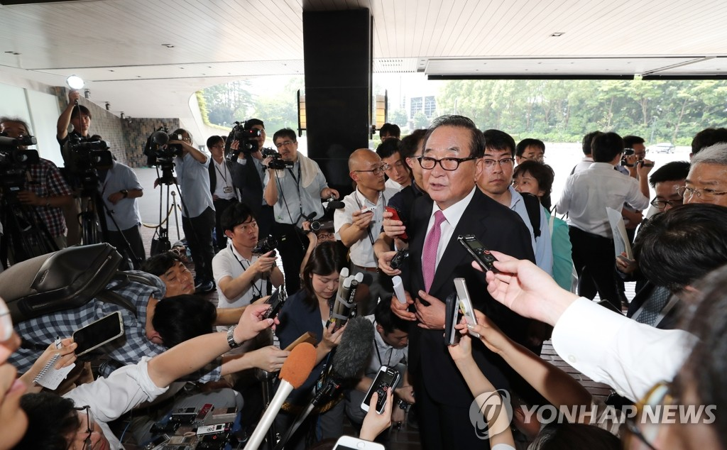 7月31日,在东京新大谷酒店,徐清源在午餐会后举行记者会。 韩联社