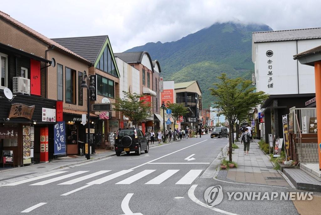 冷清的日本由布院街头 韩联社