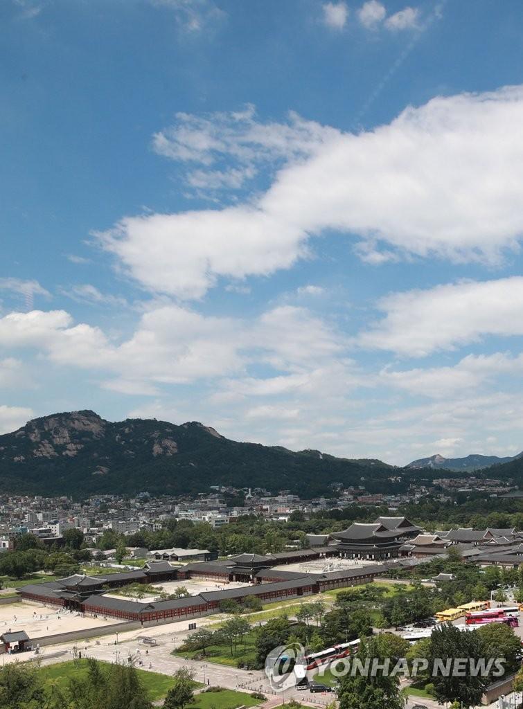 蓝天下的景福宫