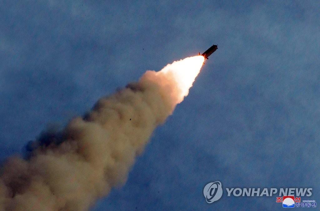 """朝鲜""""新武器""""发射升空"""