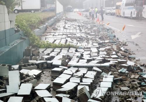 """台风""""玲玲""""袭击韩国多地 造成三人死亡"""