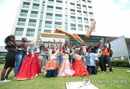 留学生在韩过中秋