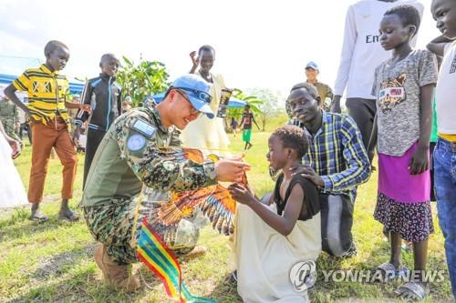 韩国驻南苏丹维和部队八成官兵即将回国